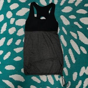 Lululemon tank size 4 in black and gray